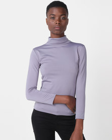 Royal T Turtle Neck Top Light Grey