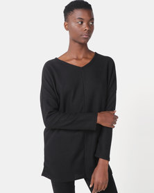Royal T Cosy V-neck Jumper Black