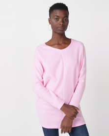 Royal T Cosy V-neck Jumper Pink