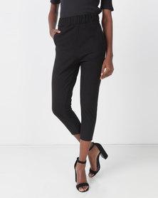 Royal T Elastic Crop Trousers Black
