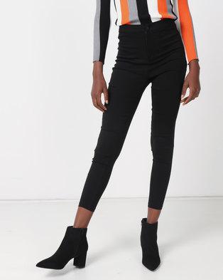 Royal T High-waisted Skinny Jeans Black