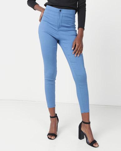 Royal T High-waisted Skinny Jeans Light Blue