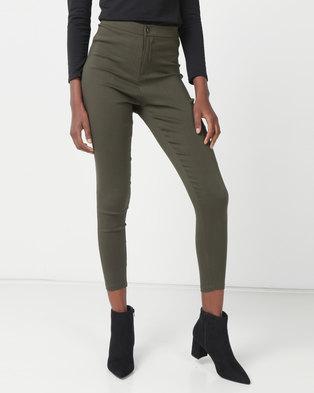 Royal T High-waisted Skinny Jeans Khaki Green