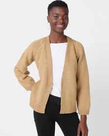 Royal T Oversized Cardi Knit Beige