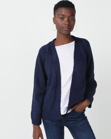 Royal T Oversized Cardi Knit Navy