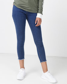 Royal T High-waisted Straight Leg Jeans Med Blue