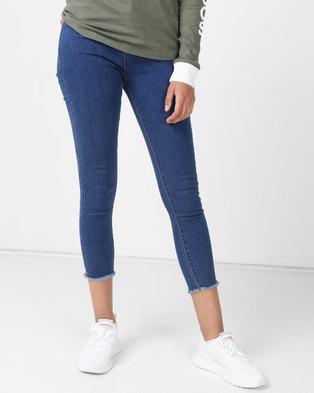 Royal T High-waisted Straight Leg Jeans Med Blue