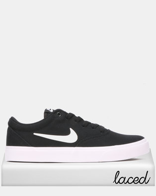 new product f5faa e1a29 NEW. Nike SB Charge CNVS Sneakers Black White