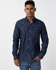 Utopia Basic Denim Shirt Blue