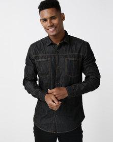Utopia Basic Denim Shirt Black
