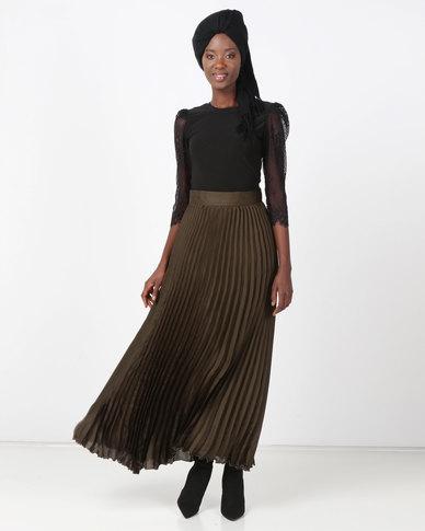 387dee52b7 Mishah Pleated Maxi Skirt | Zando
