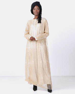 5a66b46417 Mishah Bling Overlay Dress