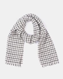 Miss Maxi Check Blanket Scarf Black/White