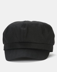 Miss Maxi Plain Baker Boy Hat Black