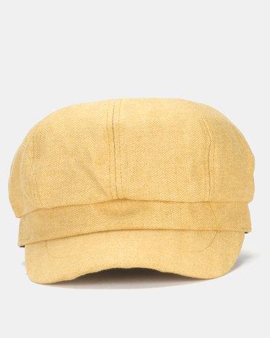 befcb1aecd865 Miss Maxi Plain Baker Boy Hat Mustard | Zando
