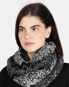 UB Creative Knit Infinity Scarf - Black Multi