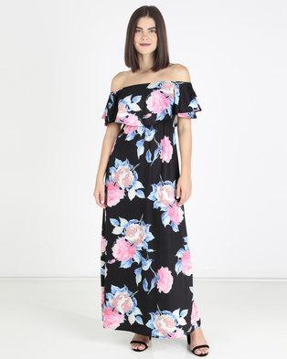 3f27deb5f3 Who I Am Floral Off Shoulder Ruffle Maxi Dress