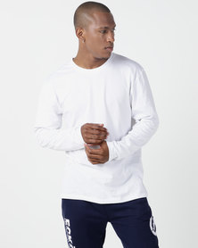 Utopia Basic 100% Cotton Long Sleeve Tee White