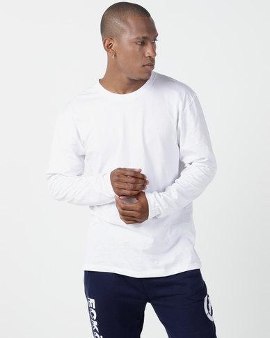 Utopia Basic 100% Cotton Long Sleeve Tee White