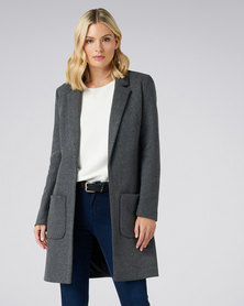 Forever New Jade Coat Mid Charcoal