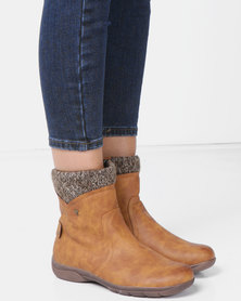 DR Hart Zadie Ankle Boots Tan