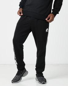Lotto Performance Mens Retro Royal Sweat Pants Black