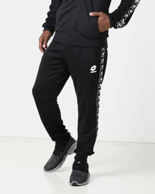 Lotto Performance Mens Retro Side Tape Pants Black