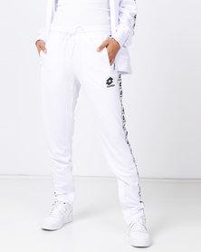 Lotto Performance Retro Side Tape Pants White