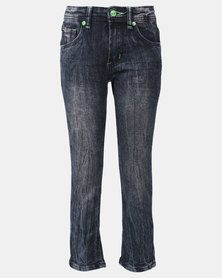 K-Star 7 Planet Boys Stone Wash Jeans Blue