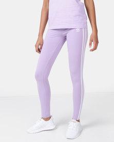 adidas Originals Ladies Stripe Leggings Purple