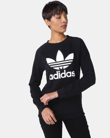 adidas Originals Ladies TRF Crew Sweatshirt Black