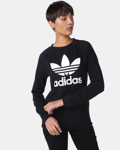 adidas Originals Ladies TRF Crew Sweatshirt Black