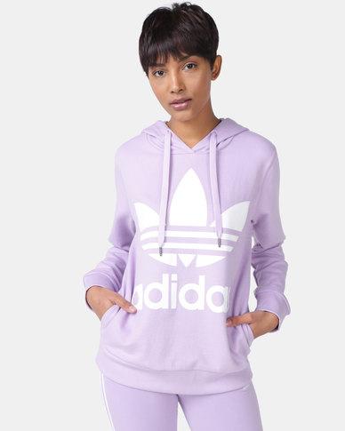 adidas Originals Ladies Adicolour Hoodie Purple