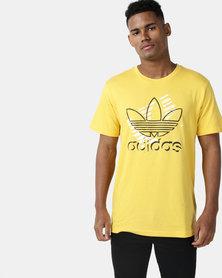 adidas Originals Mens Trefoil Art Tee Yellow