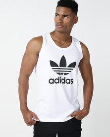 adidas Originals Men Trefoil Tank White