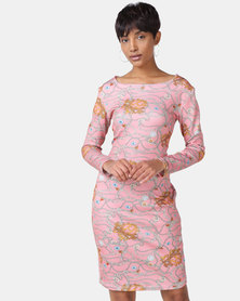 Black Buttons Zimkhitha Dress Blush