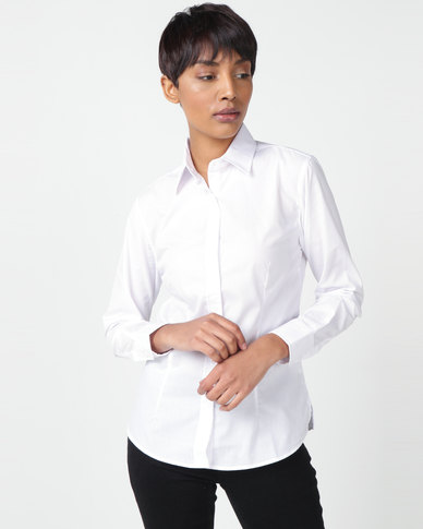 Utopia Basic Long Sleeve Shirt White