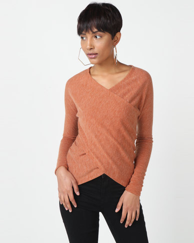 Utopia Cut n Sew Cross Over Top Rust
