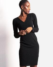 Marique Yssel Bodycon Hug Dress - Black