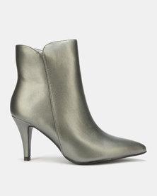 LaMara Pointy Heel Boots Grey