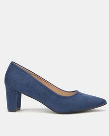 LaMara Pointy Heel Blue