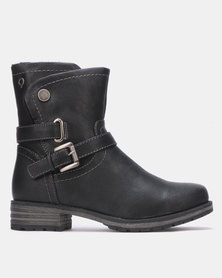Bronx Women Liza Ankle Boots Black