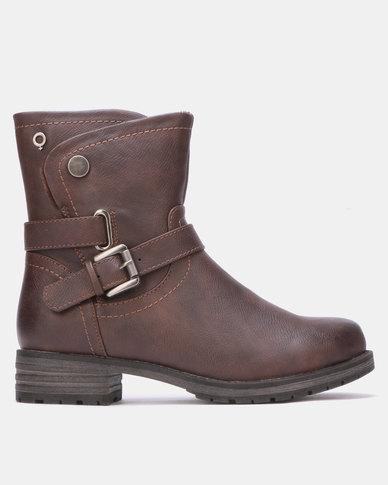 Bronx Women Liza Ankle Boots Choc