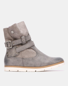 Bronx Women Wolf W9 Ankle Boots Grey