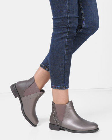 1a2ccbf9cc5 Bronx Women Neveah Ankle Boots Pewter