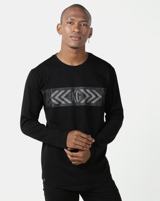 KG Rage Long Sleeve T-shirt Black/Grey Melange