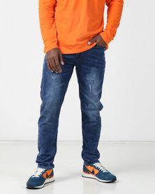 KG Classic Washed Slim Fit Stretch Jeans Indigo