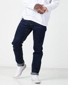 KG Classic Washed Slim Fit Stretch Jeans Dark Indigo