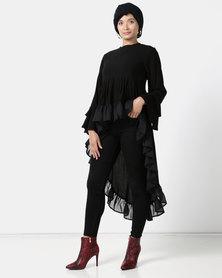 Shop.Style.Snap Bell Sleeve Dress Black