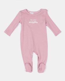 Pickallily Kids Babygrow Dusty Pink